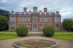 Facade of sudbury. Sudbury hall, sudbury, derbyshire, england, united kingdom stock photography