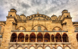 Facade of the Sultan Ahmet Mosque in Istanbul Stock Images