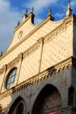 Facade in the sun of the Cathedral of Vicenza in Veneto (Italy) Royalty Free Stock Photos