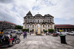Facade of Taal Church in Batangas, Philippines. Basilica of Sain Royalty Free Stock Photo
