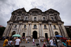 Facade of Taal Church in Batangas, Philippines. Basilica of Sain Stock Photography