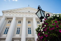 Facade of Tartu University Royalty Free Stock Photography