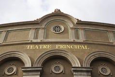 Facade of Teatre Principal in Barcelona Royalty Free Stock Image
