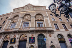 Facade of  Teatre Principal at Rambla street in Barcelona Royalty Free Stock Photo