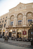 Facade of Theatre Principal at Rambla street in Barcelona Royalty Free Stock Images