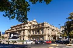 Facade of the Teatro Colon in Buenos Aires Argentina Stock Photos