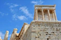 Facade of Temple of Athena Nike Royalty Free Stock Photos