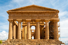 Facade of the temple of Concordia (Agrigento, Sicily) Stock Image