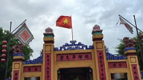 The facade of temple in Hoi An, Vietnam stock footage