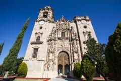 Facade of the Templo San Cayetano church in Guanajuato in Mexico. North America stock images