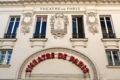 Facade of Theatre de Paris in Mntmartre. Stock Image