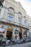 Facade of Theatre Principal at Rambla street in Barcelona royalty free stock photography