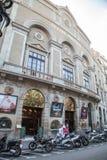 Facade of Theatre Principal at Rambla street in Barcelona Royalty Free Stock Photography