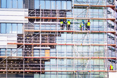 Facade thermal insulation works Royalty Free Stock Photo