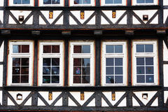 Facade of a timber framework Royalty Free Stock Image