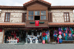 Facade tourist shop with Turkish flag Stock Photography