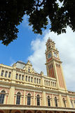 Facade and  tower of luz station in sao paulo, brazil. Inspired Stock Images