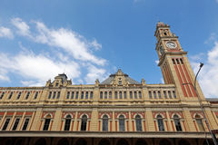 Facade and  tower of luz station in sao paulo, brazil. Inspired Royalty Free Stock Photos