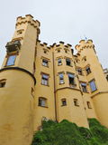 Facade and towers of Hohenschwangau Castle in Germany Royalty Free Stock Photos