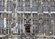 Facade of town hall at Aachen, Germany Royalty Free Stock Photos