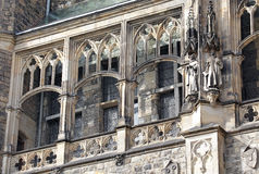 Facade of town hall at Aachen, Germany Stock Images
