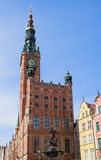 Facade of town hall of Gdansk Stock Image