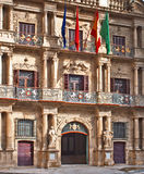 Facade of the Town Hall of Pamplona Royalty Free Stock Photos