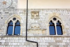 Facade of the Town Hall in Venzone royalty free stock image