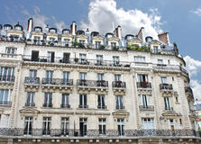 Facade of a traditional building in  Paris, Stock Photos