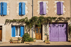 Facade of a traditional building in Provence Stock Photo
