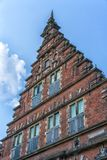Facade of traditional Dutch old houses.  royalty free stock images