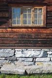Facade of a traditional Norwegian house. Europe Scandinavia Norway. Traditional Norwegian house Royalty Free Stock Images