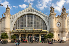 Facade. Train Station. Tours. France Royalty Free Stock Image