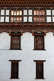 Facade of the Trashi Chhoe Dzong monastery in Thimphu, the capital of Bhutan Stock Image