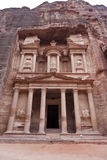 Facade of the Treasury - Al Khazneh - Petra - Jord Stock Image