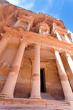 Facade of The Treasury Monument in Petra Stock Photo