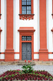 Facade of Troja castle Stock Photos