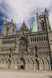 The Facade of Trondheim Cathedral Royalty Free Stock Images