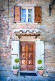 Facade of tuscan house Royalty Free Stock Image