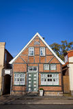 Facade of typical German residential house in Lubeck Royalty Free Stock Photos