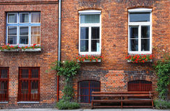 Facade of typical German residential house in Lubeck Royalty Free Stock Image