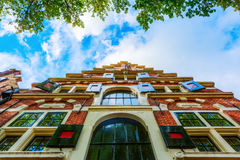 Facade of a typical historic Dutch building Royalty Free Stock Photography