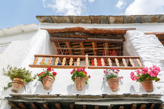 Facade of a typical house in the south of Spain Stock Photo