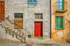 Facade of typical italian house. Stock Image
