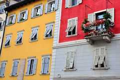 Facade of a typical italian house Royalty Free Stock Images
