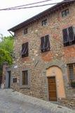 Facade of typical Italian house, Tuscany, Italy. The view of typical Italian house facade, Montecatini Alto, Tuscany, Italy royalty free stock photo