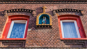 Facade of a typical Silesian house Royalty Free Stock Images