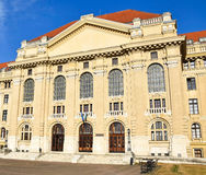Facade of the university building, Debrecen Royalty Free Stock Photo