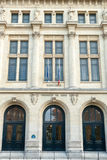 Facade of the University of Paris, Sorbonne. A facade of the University of Paris, Sorbonne. The University was founded in 1257 Stock Image