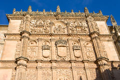 Facade of the university of Salamanca Royalty Free Stock Photo